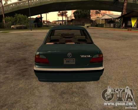 BMW 750iL pour GTA San Andreas vue de droite