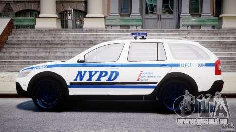 Skoda Octavia Scout NYPD [ELS] pour GTA 4 est un côté