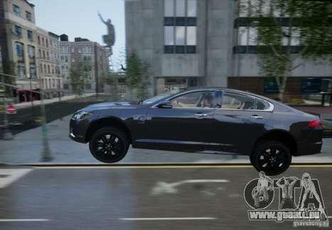 Jaguar XFR 2010 V.2.0 pour GTA 4 est une vue de dessous