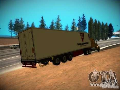 Kühlschrank-trailer für GTA San Andreas Rückansicht