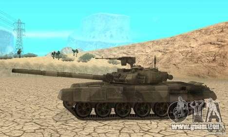 Char t-90 « Vladimir » pour GTA San Andreas sur la vue arrière gauche