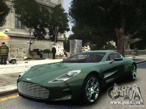 Aston Martin One 77 2012 pour GTA 4