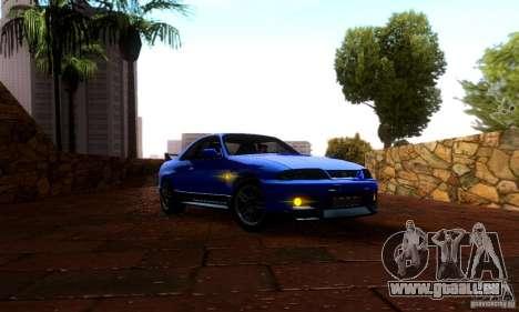 Nissan Skyline GT-R R-33 v2.0 pour GTA San Andreas sur la vue arrière gauche