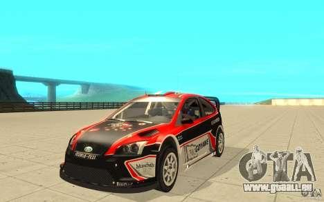 Ford Focus RS WRC 08 pour GTA San Andreas vue de dessous