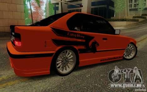 BMW E34 540i Tunable für GTA San Andreas Innenansicht
