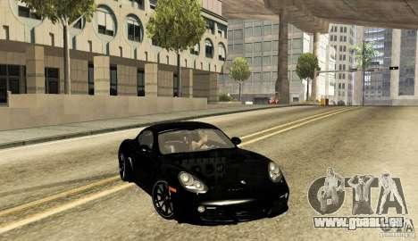 Porsche Cayman R pour GTA San Andreas sur la vue arrière gauche