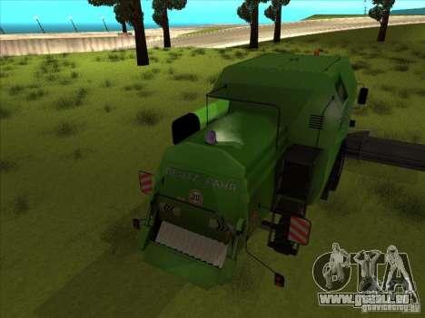 Deutz Harvester pour GTA San Andreas vue de droite