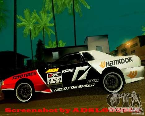 Need for Speed Elegy pour GTA San Andreas laissé vue
