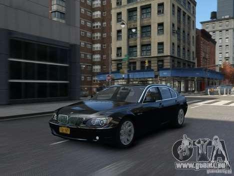 BMW 7 Series E66 2011 pour GTA 4 est une vue de l'intérieur