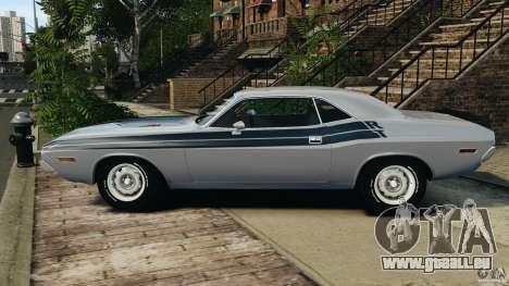 Dodge Challenger RT 1970 v2.0 pour GTA 4 est une gauche