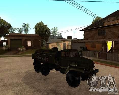 Ural 4320 camion pour GTA San Andreas vue arrière