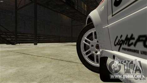 Mitsubishi Lancer Evolution IX RallyCross pour GTA 4 Vue arrière