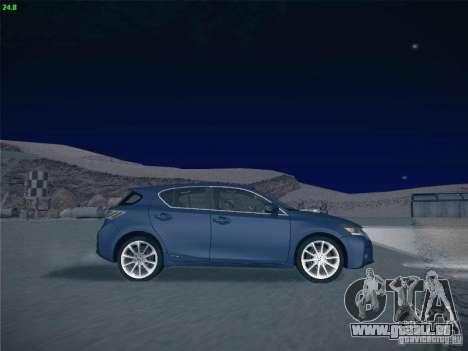 Lexus CT200H 2012 pour GTA San Andreas vue de dessus
