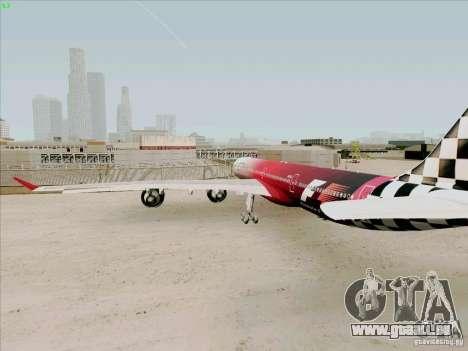Airbus A-340-600 Formula 1 für GTA San Andreas rechten Ansicht
