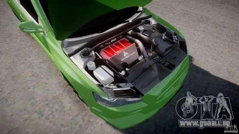 Mitsubishi Lancer Evolution X Tuning pour GTA 4 Vue arrière