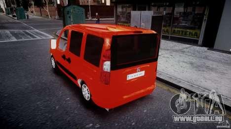 Fiat Doblo 1.9 2009 pour GTA 4 Vue arrière de la gauche