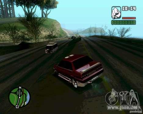 VAZ 21099 NFS Tuning für GTA San Andreas zurück linke Ansicht