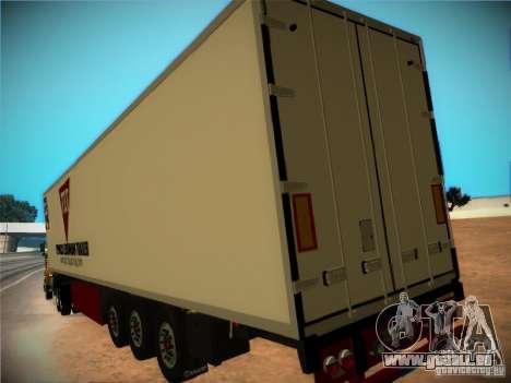 Kühlschrank-trailer für GTA San Andreas Innenansicht