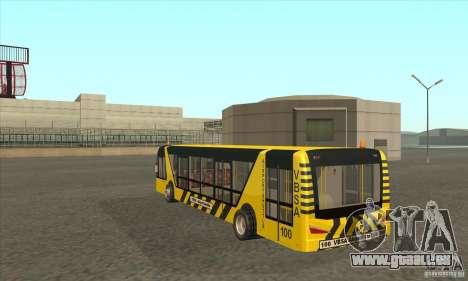 Bus pour l'aéroport pour GTA San Andreas sur la vue arrière gauche