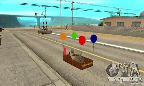 Ballooncraft pour GTA San Andreas vue intérieure