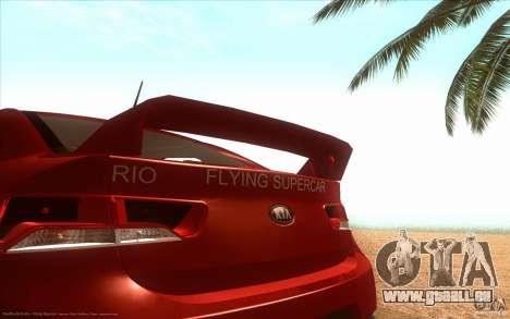 Kia Rio für GTA San Andreas zurück linke Ansicht