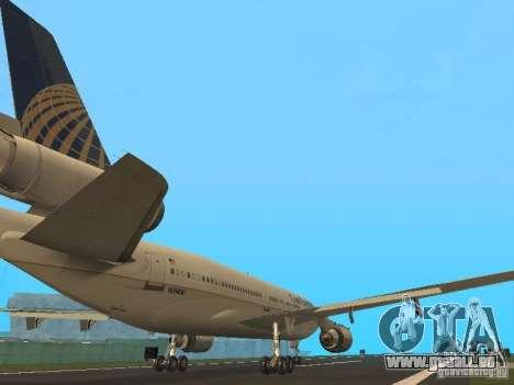 McDonell Douglas DC10 Continental Airlines pour GTA San Andreas vue de droite