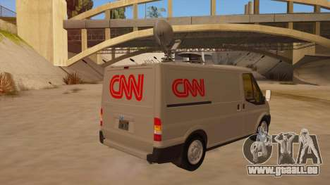 Ford Transit CNN pour GTA San Andreas vue de droite