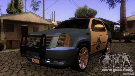Cadillac Escalade 2007 Cop Car pour GTA San Andreas