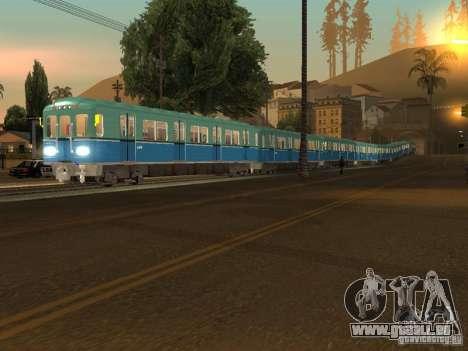 Métro e pour GTA San Andreas laissé vue