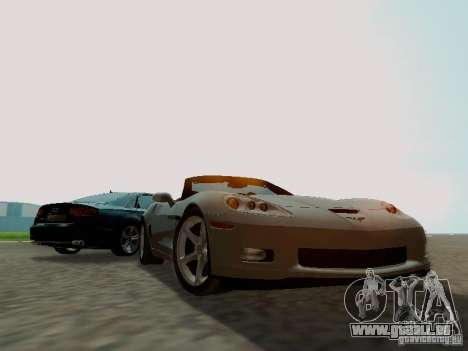 Chevrolet Corvette C6 GS Convertible 2012 pour GTA San Andreas vue arrière
