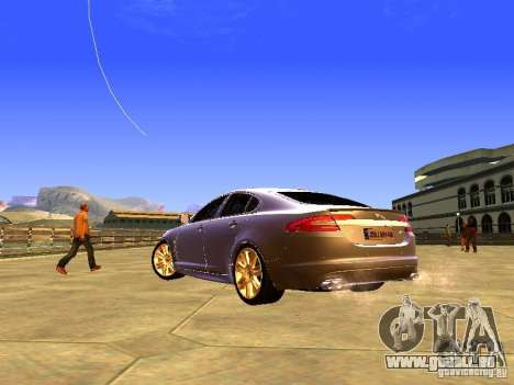 Jaguar XFR 2011 für GTA San Andreas obere Ansicht