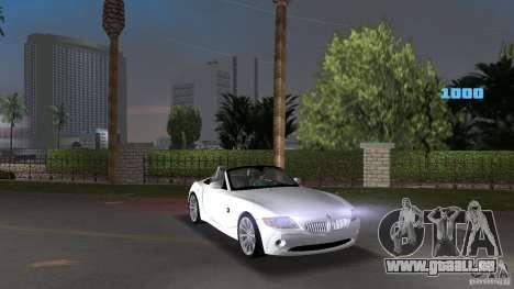 BMW Z4 2004 pour GTA Vice City vue arrière