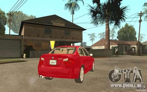 BMW 330i E90 v.2.0 für GTA San Andreas rechten Ansicht