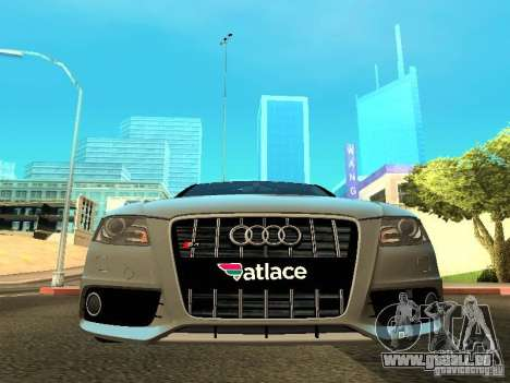 Audi S4 2010 pour GTA San Andreas vue de côté