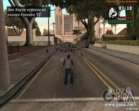 Super coup de pied pour GTA San Andreas troisième écran