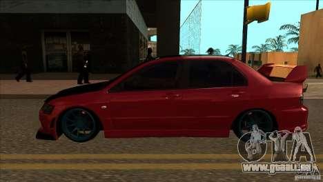 Mitsubishi Lancer Evo 8 Street Drift pour GTA San Andreas laissé vue