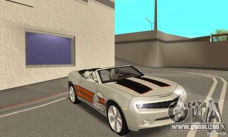Chevrolet Camaro Concept 2007 für GTA San Andreas Unteransicht