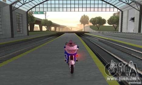 Russische Polizeimotorrad für GTA San Andreas rechten Ansicht