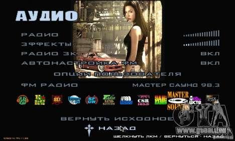 Le Menu Most Wanted pour GTA San Andreas troisième écran