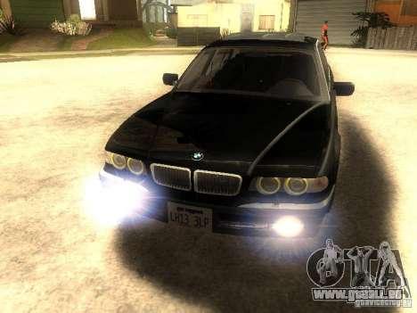 BMW 750iL für GTA San Andreas zurück linke Ansicht
