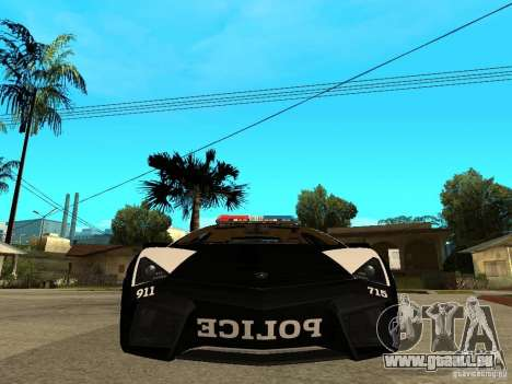 Lamborghini Reventon The Speed Enforcer für GTA San Andreas rechten Ansicht