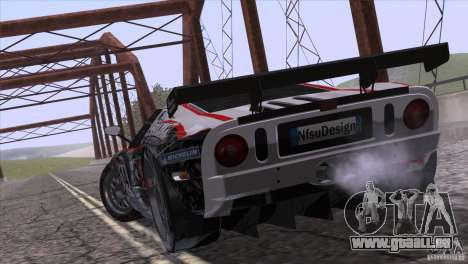 Ford GT Matech GT3 Series für GTA San Andreas Rückansicht