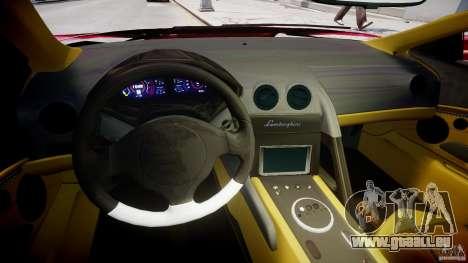 Lamborghini Reventon Final für GTA 4 Rückansicht