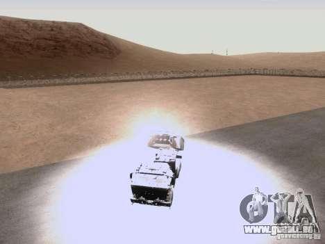 M142 HIMARS Artillery pour GTA San Andreas vue intérieure