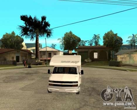 Chevrolet Camper für GTA San Andreas Rückansicht