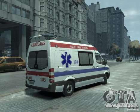 Mercedes-Benz Sprinter Azerbaijan Ambulance v0.1 pour GTA 4 est un droit