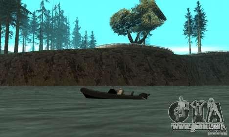GTAIV Dinghy pour GTA San Andreas laissé vue