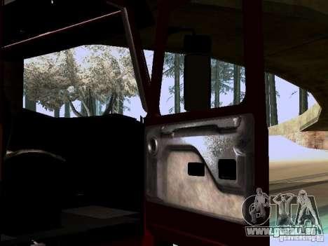 Scania 143M pour GTA San Andreas vue intérieure
