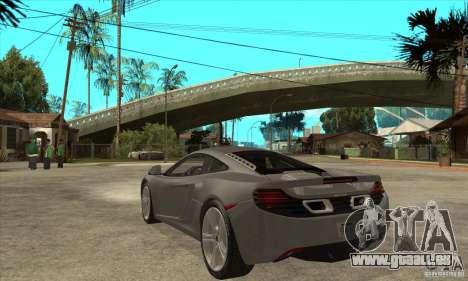 McLaren MP4-12c 2010 für GTA San Andreas zurück linke Ansicht