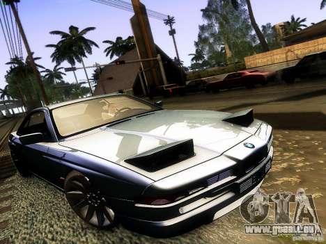 BMW 850 CSI pour GTA San Andreas vue arrière